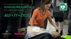 """Kampania społeczna """"AED + Ty = Życie"""""""