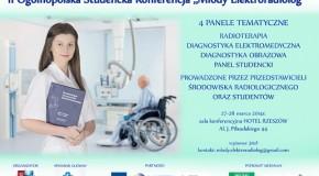 "II Ogólnopolska, Studencka Konferencja ,,Młody Elektroradiolog"""
