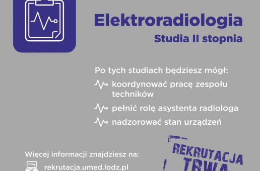 Rekrutacja na studia II stopnia – Elektroradiologia