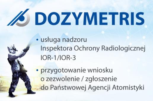 DOZYMETRIS – usługi nadzoru Inspektora Ochrony Radiologicznej